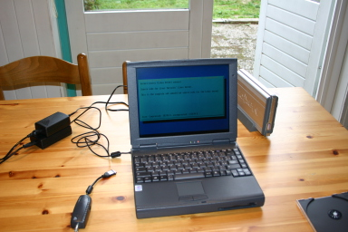installing Linux on the laptop